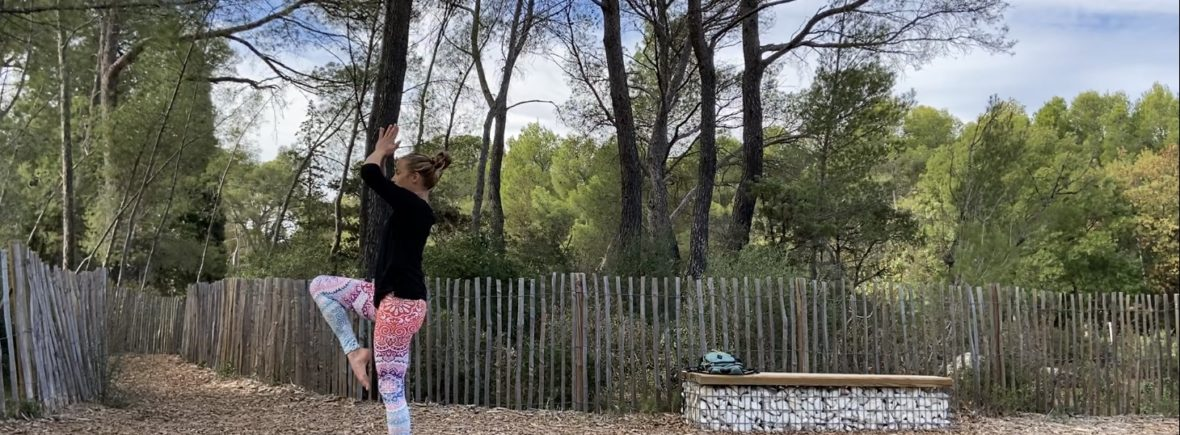 yoga vinyasa dans la nature